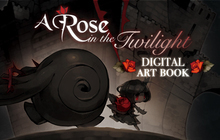A Rose in the Twilight - Digital Art Book Badge