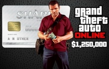 Grand Theft Auto V & Great White Shark Cash Card Badge