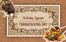 Holiday Jigsaw Thanksgiving Day Badge