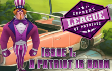 Supreme League of Patriots - Issue 1: A Patriot is Born Badge