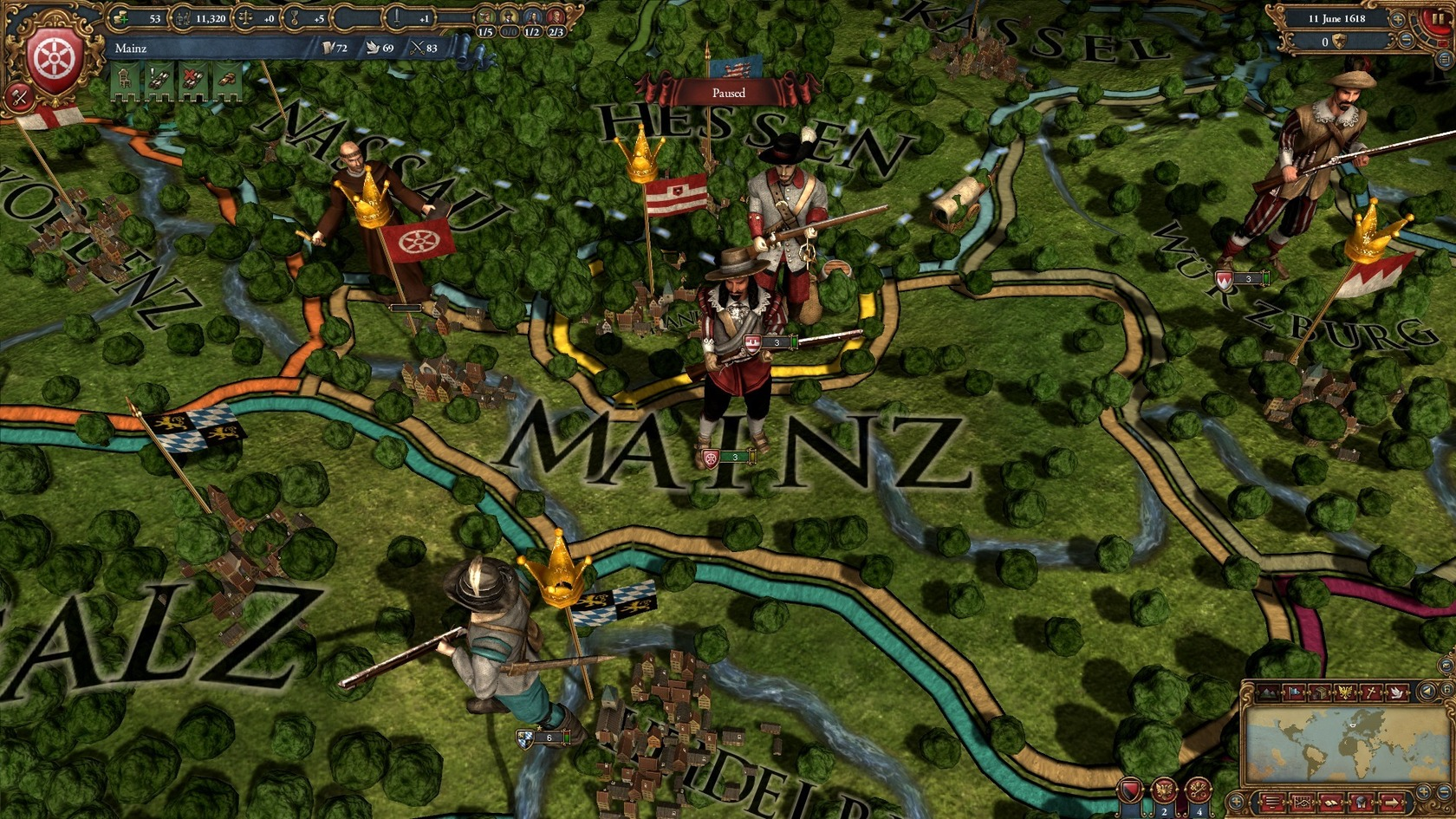 how to move units in europa universalis 4