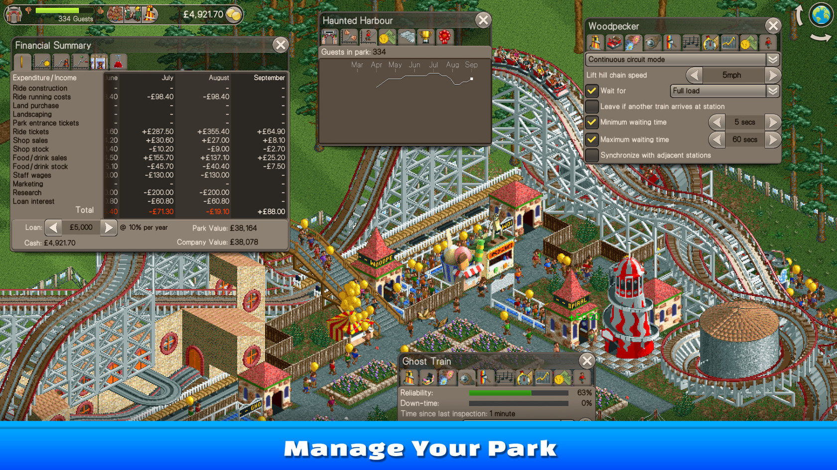 RollerCoaster Tycoon Classic | wingamestore com