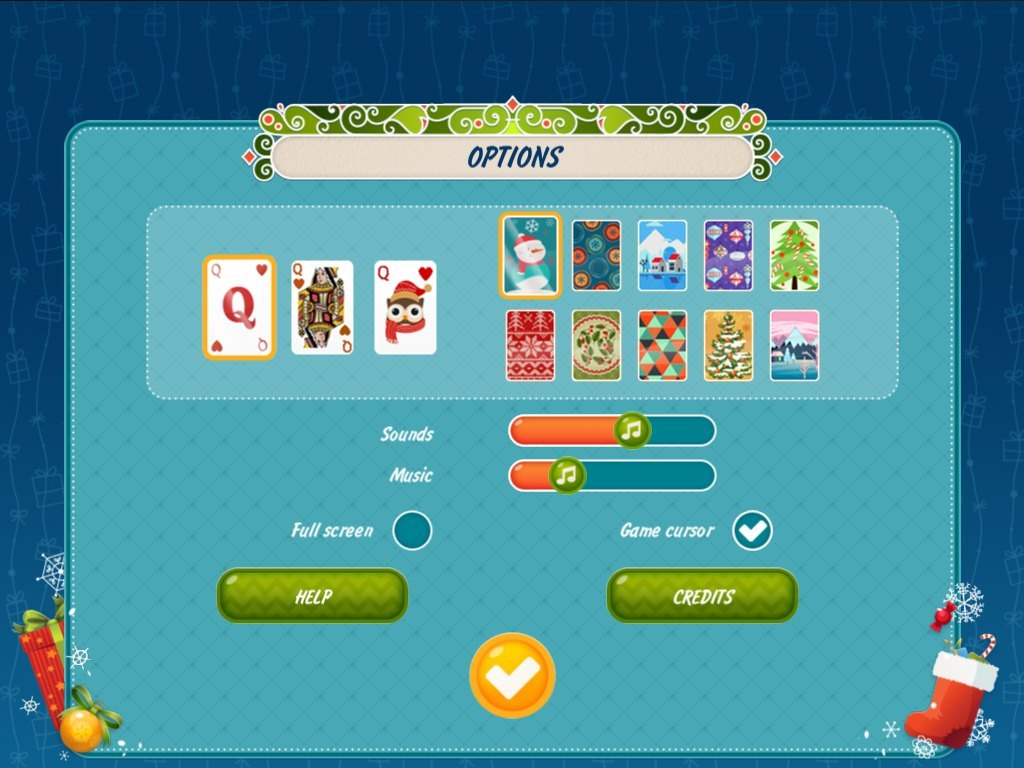 solitaire christmas match 2 cards screenshot 3 - Solitaire Christmas