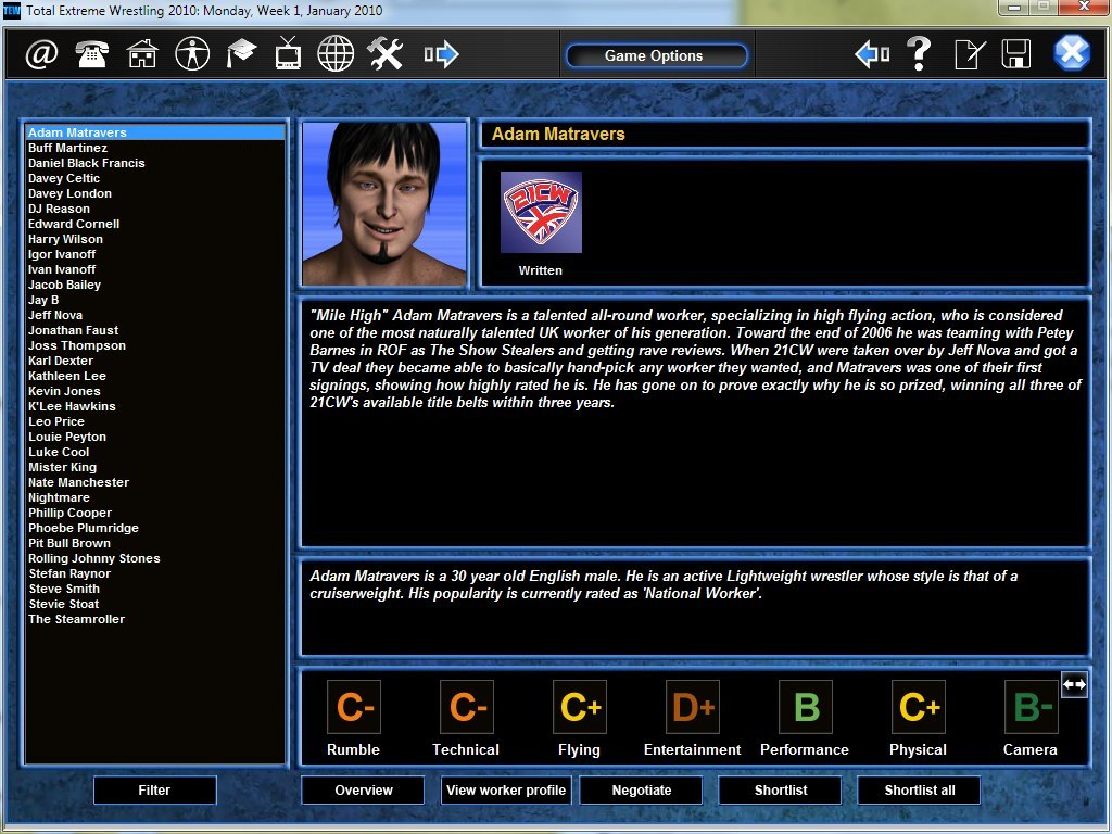 Wrestling Manager Game