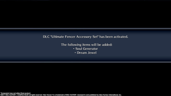 Fairy Fencer F ADF Ultimate Fencer Accessory Set Screenshot 1