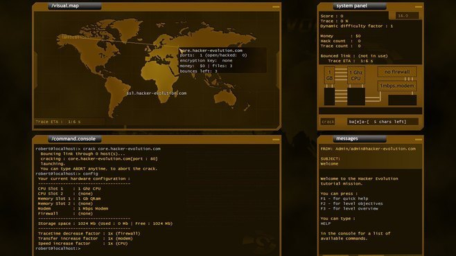 Hacker Evolution Screenshot 2