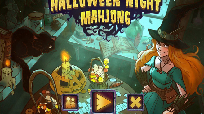 Halloween Night Mahjong Screenshot 1
