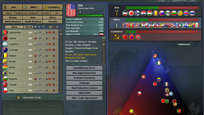 Hearts of Iron III Screenshot 2