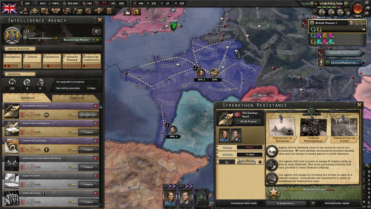 Hearts of Iron IV - La Résistance Screenshot 3