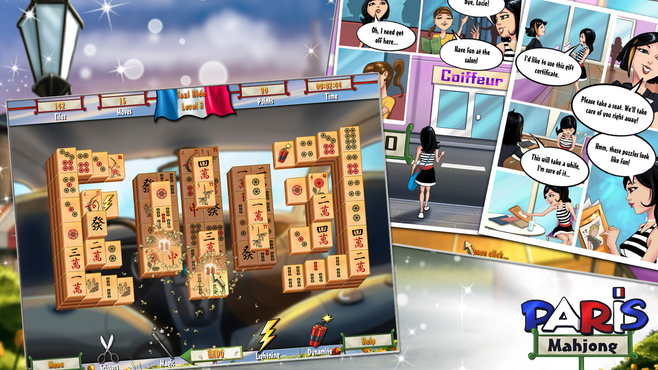 Mahjong Adventure - Paris Screenshot 1