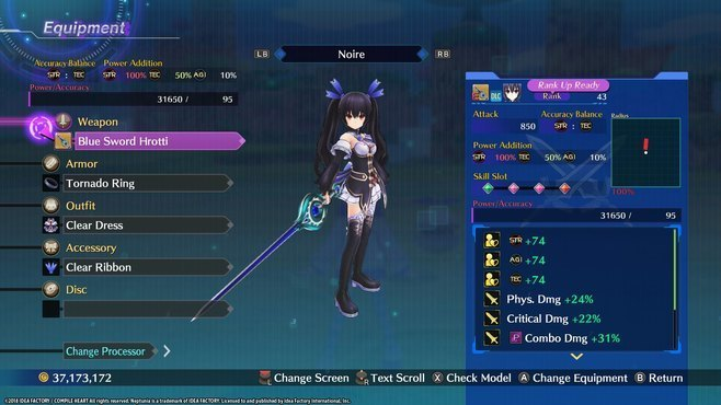 Megadimension Neptunia VIIR - 4 Goddesses Online Legendary Weapon Set Screenshot 3