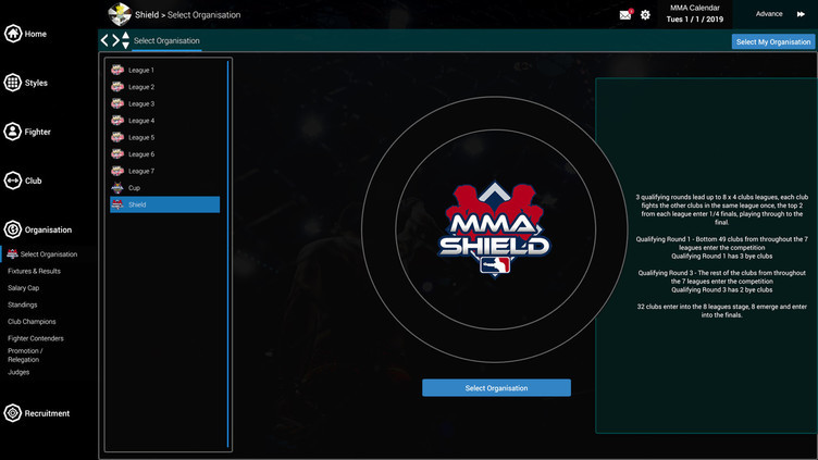 MMA Team Manager Screenshot 8