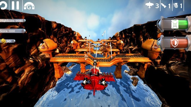 Red Barton and the Sky Pirates Screenshot 1