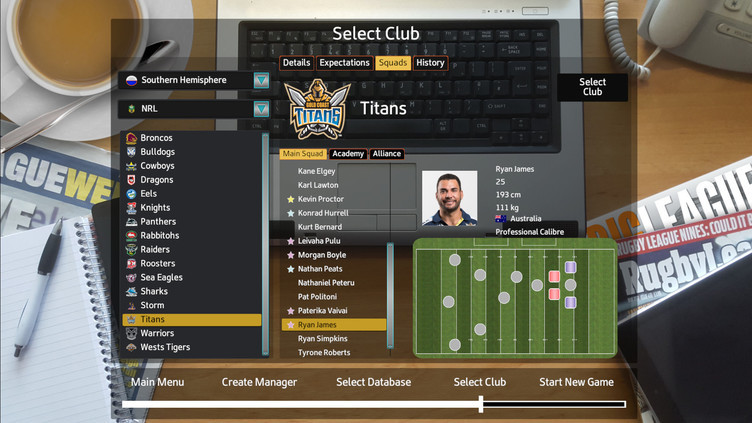 Rugby League Team Manager 2018 Screenshot 8