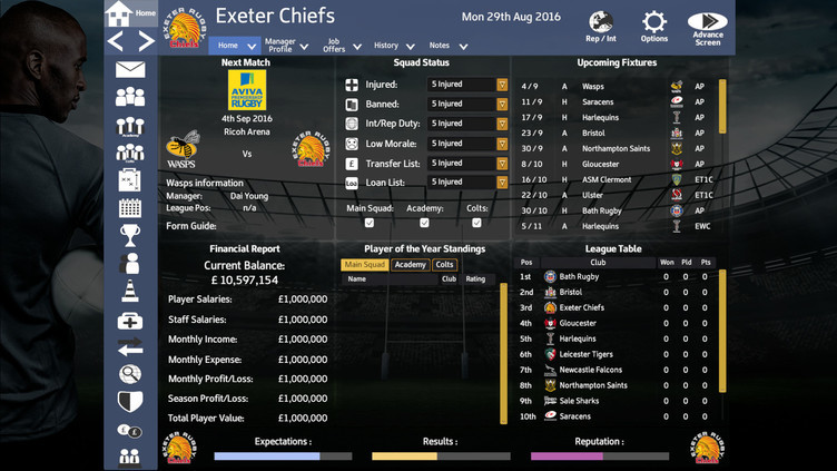 Rugby Union Team Manager 2017 Screenshot 3