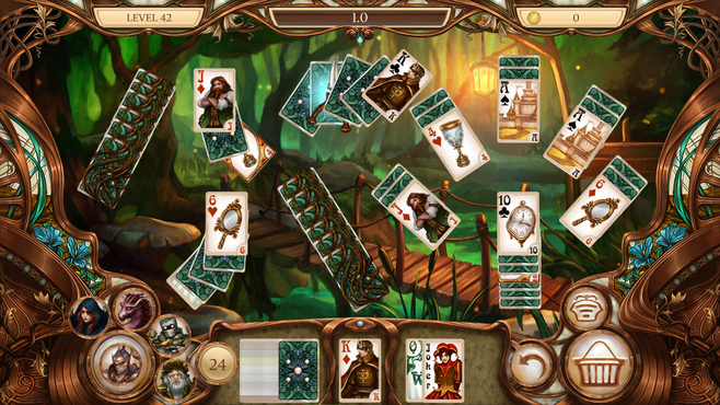 Snow White Solitaire Charmed Kingdom Screenshot 2