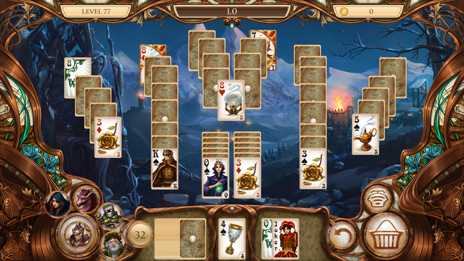 Snow White Solitaire Charmed Kingdom Screenshot 4