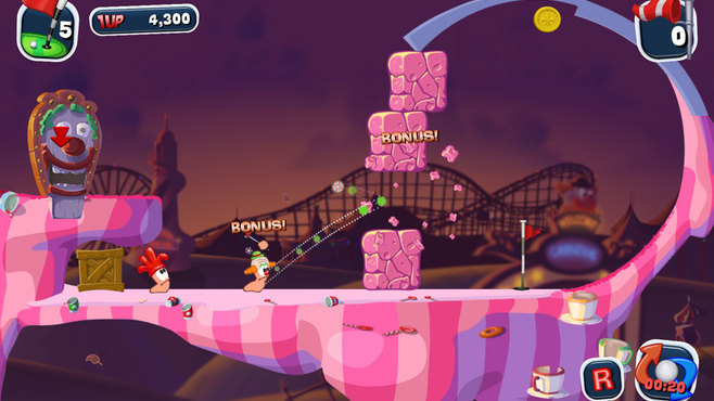 Worms Crazy Golf Screenshot 1